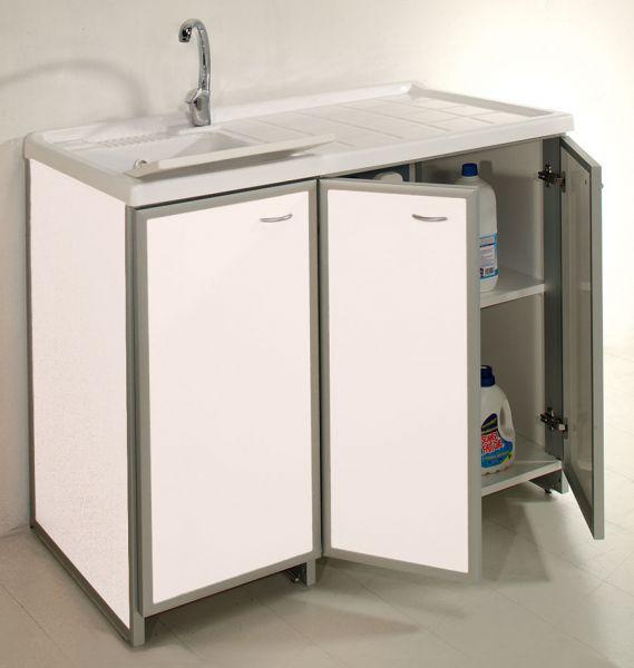 mobile lavatoio e lavastoviglie : LAVATOIO CON PIANO COPRILAVATRICE E ANTE DI COPERTURA 4