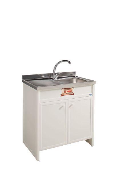 Lavello cucina vasca sx aquilini - Mobile lavello cucina acciaio ...