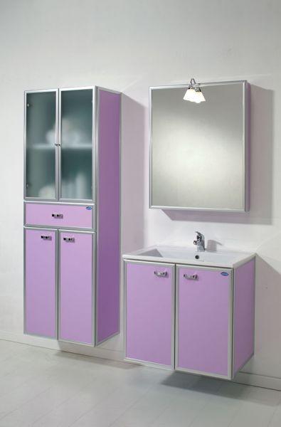 Linea bagno modello duplo sospeso con specchio contenitore e colonna sospesa 4 ante e cassetto - Specchio bagno ante ...