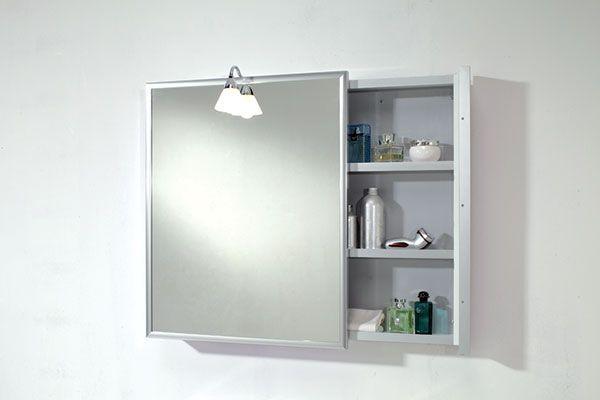 Linea bagno aquilini for Specchio contenitore bagno