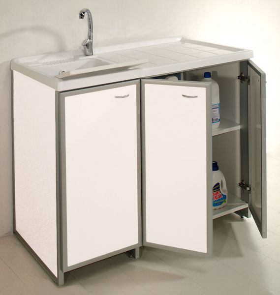 Lavatoio con mobile contenitore aquilini for Lavatoio esterno