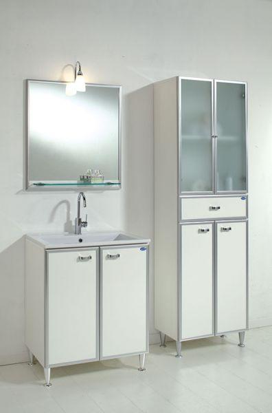 Composizione linea bagno duplo con specchiera con faretto - Faretto specchio bagno ...